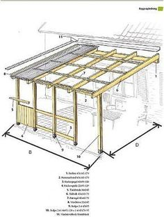 The wooden pergola is a good solution to add beauty to your garden. If you are not ready to spend thousands of dollars for building a cozy pergola then you may devise new strategies of trying out something different so that you can re Diy Pergola, Pergola Metal, Pergola Aluminium, Deck With Pergola, Outdoor Pergola, Pergola Shade, Patio Roof, Backyard Patio, Modern Pergola