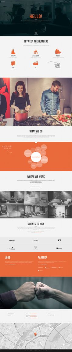 Web agency Dunckelfeld - futuristic modern design with great photography and imagery