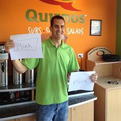 Bob earning Facebook Credits through Plink.com at Quiznos in Denver, CO
