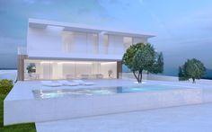 Single Family House in Carnaxide Single Family, Ibiza, Mansions, House Styles, Outdoor Decor, Alexander Wang, Home Decor, Lisbon, Modern Architecture