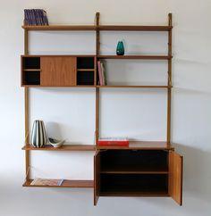 Poul Cadovius Teakwood Wall Unit w/ Shelves 60s | Teak Regal Royal System 60er | eBay