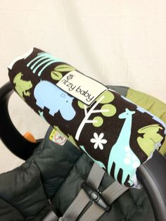 Infant Car Seat Cover Padded  Zoology by BabyCarSeatCovers on Etsy, $20.00