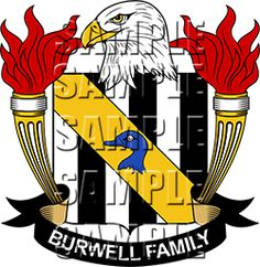 Burwell Family Crest apparel, Burwell Coat of Arms gifts