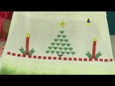 Vida com Arte | Toalha de lavabo em ponto natalino por Leila Jacob - 17 ...