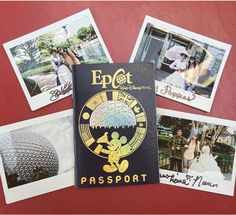 EPCOT passport and polaroid photo ideas