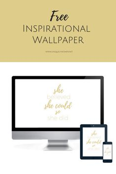 One of my favorite ways to add inspiration is with a free inspirational quote wallpaper. Grab your FREE Inspirational Quote Wallpaper for your blog or business!