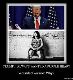 Hey trump - a cowardly draft dodger can't earn one those!