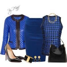Royal Blue & Black
