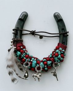 Beaded Spirit Horseshoe by WhiteFeatherJewelry on Etsy, $38.50: