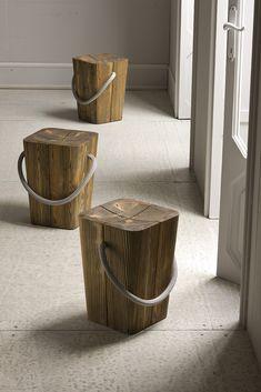 Sgabello in legno massello HUG by @elitetobe design Emo Design