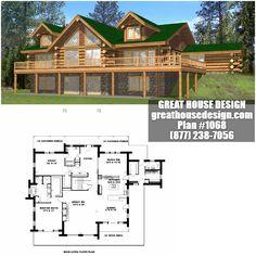 Log House Plan # 1068 Toll Free: (877) 238-7056
