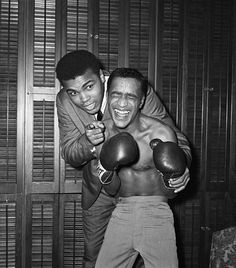 The juxtaposition between these two figures is great. Even when hunched over, Ali still dwarfs the comedian and singer Sammy Davis Jr, whom he's teaching how to box. More than that, though, it's the kind of photograph which attests to Ali's character and charm outside the ring.