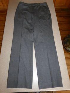 Hearty Brooks Brothers Caroline Fit 100% Wool Black Dress Pants Size 14 Euc Women's Clothing