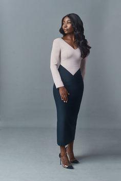 "Reni Folawiyo, Bidemi Zakariyau, Tosin Durotoye front CLAN's ""SHE, The Power Woman"" Campaign Classy Work Outfits, Classy Dress, Stylish Outfits, Event Dresses, Modest Dresses, Dresses For Work, African Attire, African Dress, Look Fashion"