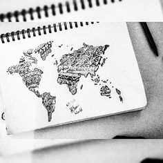 New drawing of mine- the world  Inspired by @thesketchbookk • @xxnakitaxx @my.sketches.xx