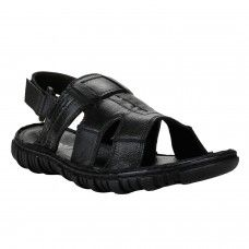 Black Sandal for Men - Buy Online Black Sandal for Men Rugged, refined, and ready for nights out or camping, this full-grain PU-and-foam slide gives you comfort in a hip, casual style. I enjoy wearing this sandal. Very comfortable, fit is true to sizing.That are the most comfortable sandal on earth. Is just like walking on a cloud