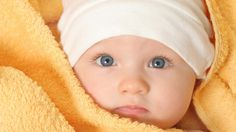 Lovely #Newborn #Baby with Blue Eyes