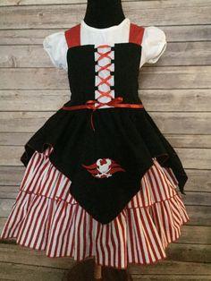 Inspired Disney Pirate Dress Embroidered by CherishedChildBoutiq