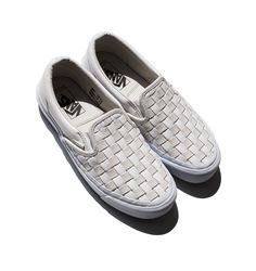 Vans Woven Leather Slip-Ons / Garance Doré