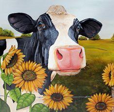 Sunflower Sally Painting  - Sunflower Sally Fine Art Print
