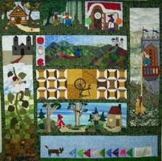 such a cute idea for a little girl....... you could these fairy ... : fairy tale quilt patterns - Adamdwight.com
