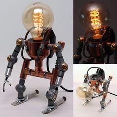 Desk-Light-Lamps-Home-Decor-Ligthing-Table-Lamp-Handmade-Faucet-Robot-Light
