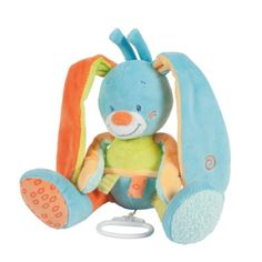 Nattou Funny Farmers 662062 Soft Toy Rabbit Musical