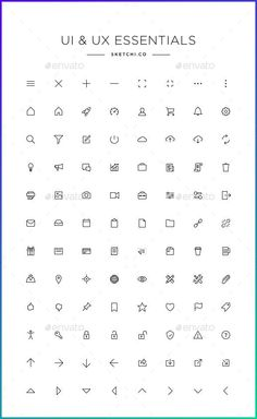 UI & UX Essentials - Simple line icons App Ui Design, Interface Design, Icon Design, Design Art, Graphic Design, City Drawing, App Design Inspiration, Best Icons, Notes Design