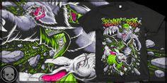 """Thrash-Animals"" t-shirt design by Cryface666"