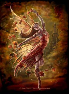 Anne Stokes Fairies | Anne Stokes --> Autumn fairy