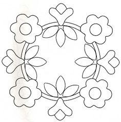 Nice appliqué design for flowers. Ótimo!!!
