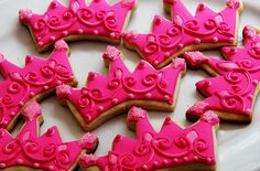 Pink Crown Cookies.