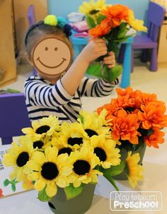 Spruce up the basic home living dramatic play center by adding silk flowers and these adorable order forms. Children love working in their own flower shop!