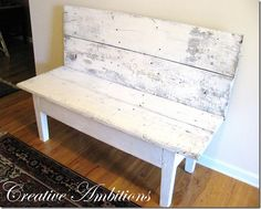 Hmmm...I have two heirloom family tables downstairs. May have to try to make this bench.