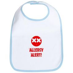 This Princess has Allergies Embroidered Baby Pull-Over Bib Gift Girl Allergy