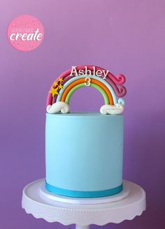 How to make a rainbow cake topper - Love Cake Create
