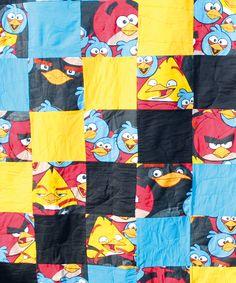 Unser Angry Bird Quilt zum Film