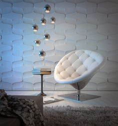 Perforated metal balls of Polished Chrome sparkle like stars in the night. Several styles feature different size shades, which can be configured in a variety of designs. The LED modules not only shine like stars, but also provide good down lighting.