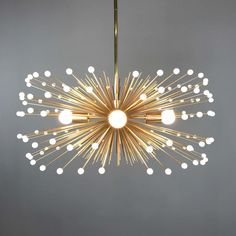 White Beaded Urchin Chandelier Lighting | Midcentury Modern Sputnik by DuttonBrown on Etsy https://www.etsy.com/listing/238104515/white-beaded-urchin-chandelier-lighting