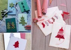 ▷ Handgemachte Weihnachtskarten - Selber basteln mit Stempeln und Bordüren - [LIVING AT HOME]