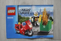 Lego 60000 INSTRUCTION BOOK City Fire Motorcycle #Lego Lego Instruction Books, Book City, Lego Instructions, Lego Building, Lego City, Motorcycle, Fire, Ebay, Motorcycles