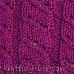 diagonal lace stripe knitting stitch