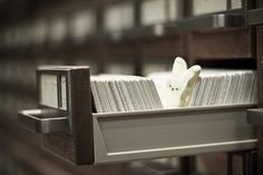 """Peeping In A Card Catalog,"" by Raymond Bryson, via Flickr"