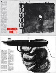 Hans Hillman, graphiste, illustrateur et designer allemand 1925 - 2014. C'est un précurseur qui dès les années 50 re-inventait l'art de l'affiche de film en Allemagne, en concevant les versions allemandes des affiches de Godard, Bunuel, Eisenstein, Kurosawa, ou encore Bergman.