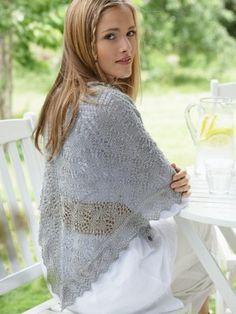 5 or 3.75 mm, Circular Knitting Needles     Bernat® Handicrafter® Crochet thread Solids: (85 g/3 oz; 339 m/371 yds or 400 g/14 oz; 1596 m/1746 yds) 85 g ball: 31046 (Misty Grey) or 400 g ball: 32046 (Misty Grey)