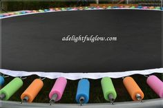 Pool noodle Trampoline Spring covers :)