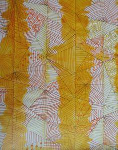Gelbes Zentangle