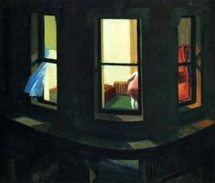 edward hopper, night windows #tintas #painting