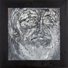 Wojciech Tut Chechliński, Maska, olej na płótnie, 39 x 39 cm, 2012 r, sygnowany (kat. 098)