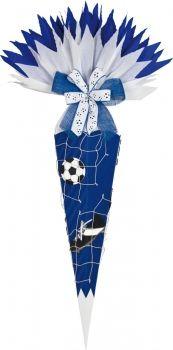 Schultütenbastelset Fußball blau/weiß